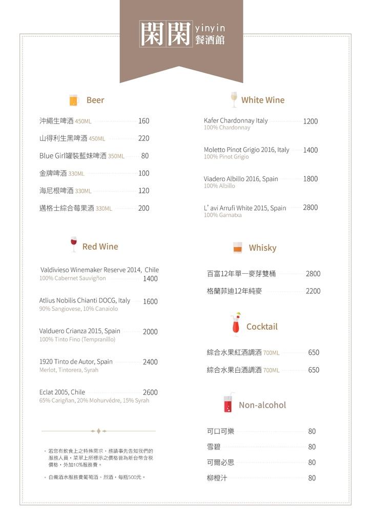 台北|閑閑餐酒館 YIN YIN|低調的轉角店面絕妙的餐酒料理~|捷運南京三民站美食|台北約會餐廳推薦