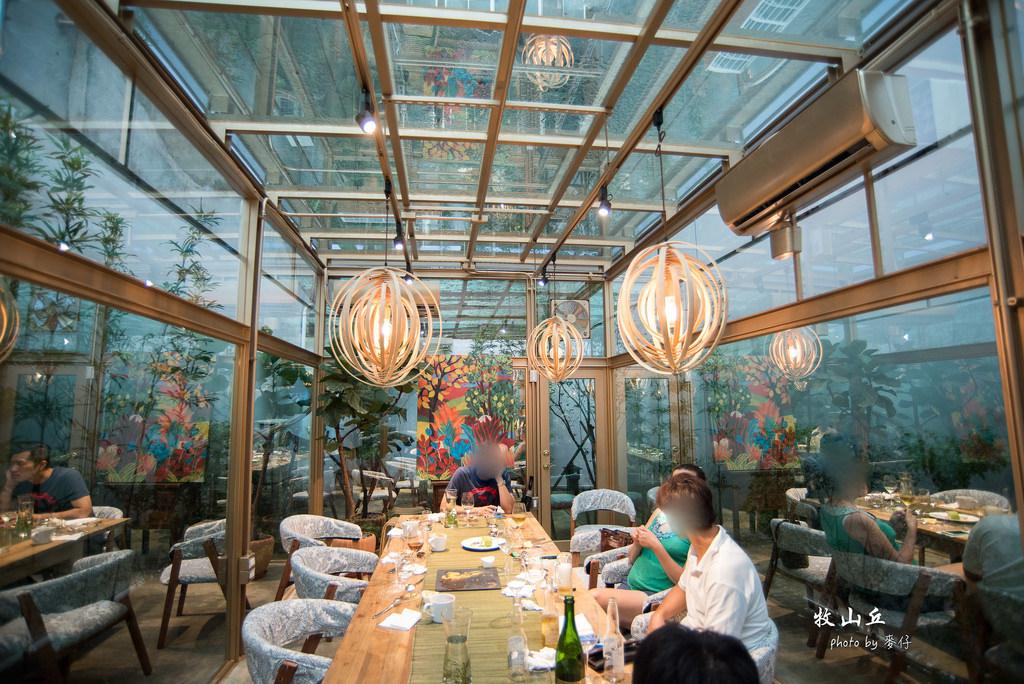食-台北|牧山丘MUHILLS|百年老街裏的美麗玻璃屋|迪化街老宅餐廳|餐點美味有主廚的堅持~大推碳烤牛排野菜燉飯