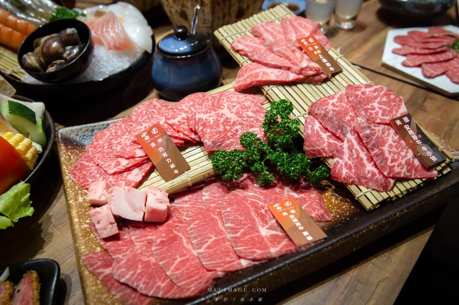 台中富田和牛燒肉,每來必點的浮誇大份量『和牛四盛合肉盤』,不傷荷包爽爽吃,台中北屯燒肉、台中燒烤、台中頂級燒肉推薦