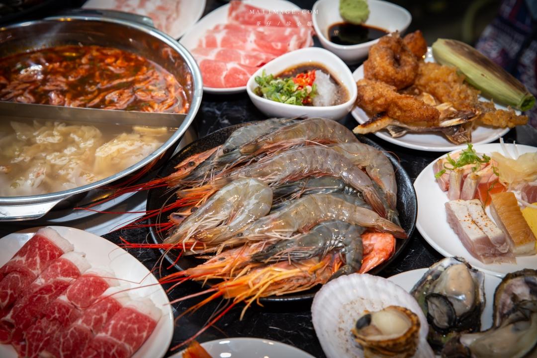 嗨蝦蝦百匯鍋物吃到飽(嗨蝦蝦光復店)|台北公司聚餐吃到飽推薦,老闆太佛心不怕你吃,和牛啤酒烤生蠔上百種食材無限量吃到飽