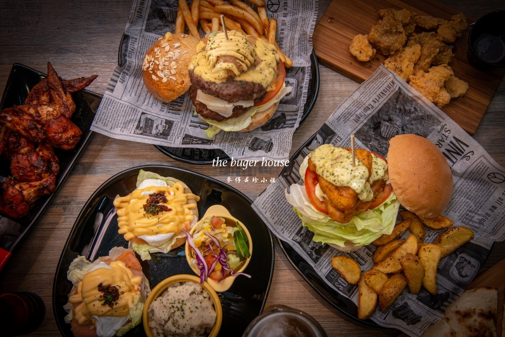 【The burgeR Rouse美式漢堡餐廳】桃園八德巨無霸花生雙層牛肉堡、隱藏版雙層鱈魚堡必點|桃園八德早午餐、八德漢堡