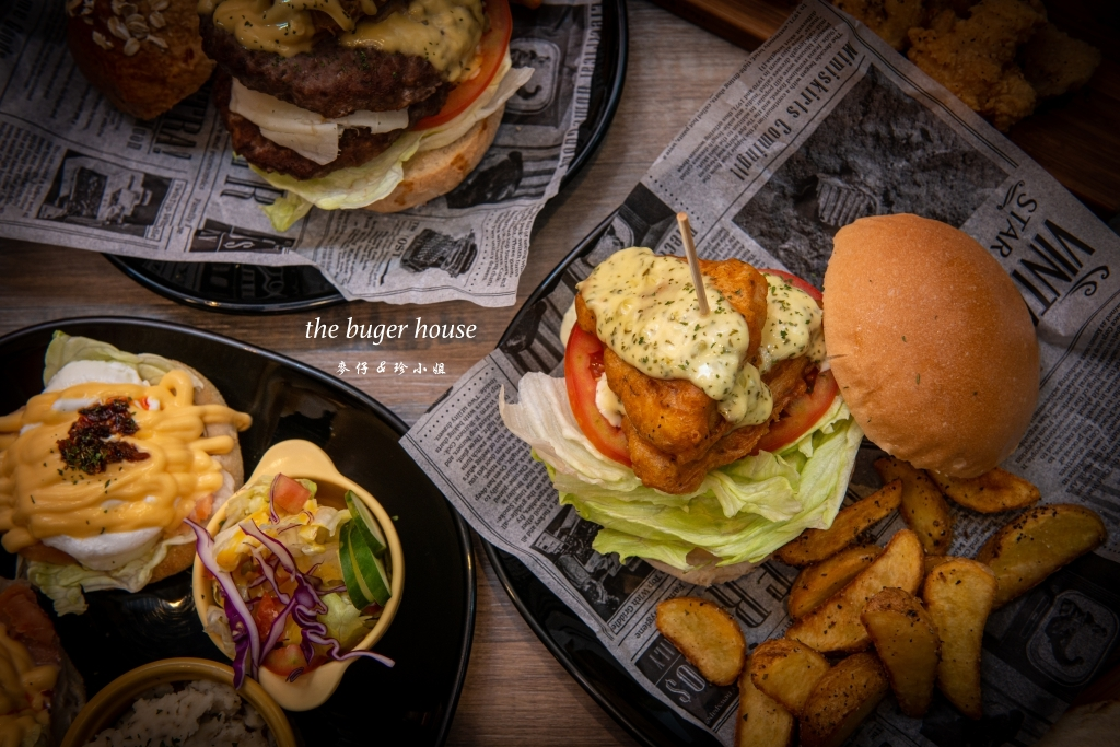 【The BurgeR HousE 美式漢堡餐廳】桃園八德浮誇系巨無霸花生雙層牛肉堡、隱藏版雙層鱈魚堡必點|桃園八德早午餐推薦
