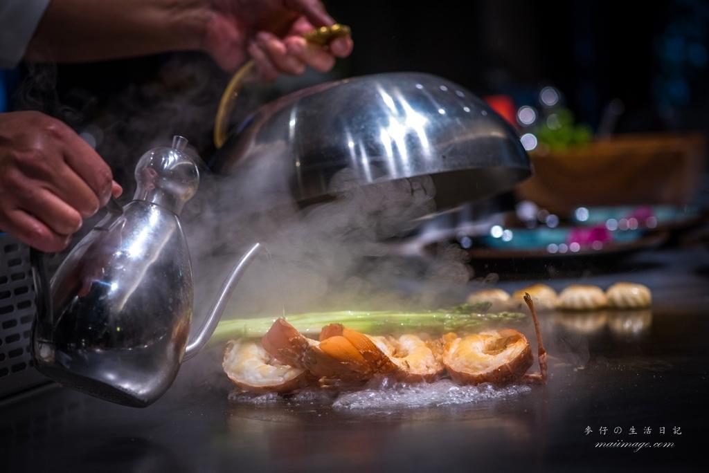【台北美食】山茶花鐵板燒SaZanKa Teppanyaki|來自法國玫瑰龍蝦+鹿兒島和牛超美味|大直精緻鐵板燒推薦|劍南站美食推薦