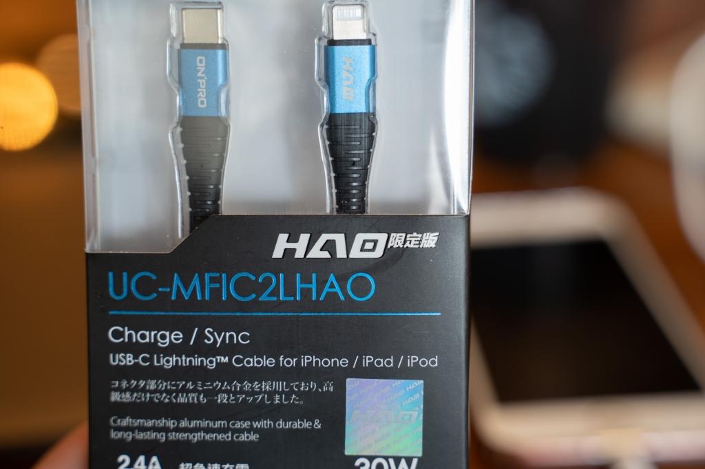 iphone PD快充 急速48W USB-C HAO限定版小黑充電頭+PD快充線(iOS/Type-C)小豪包膜