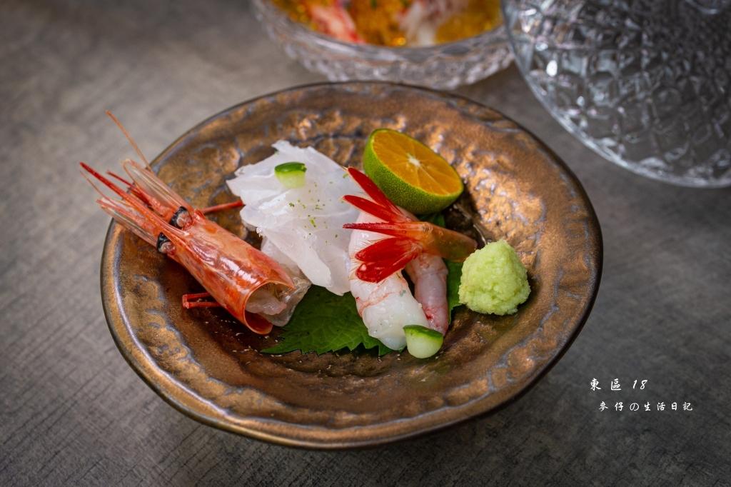 【東區18east】創作和食料理|東區驚艷度破表的日料無菜單料理,超值午間套餐只要980元~日本豐洲市場直送海鮮